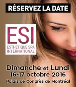 Congrès Esthétique Spa de Montréal, 16 et 17 octobre 2016