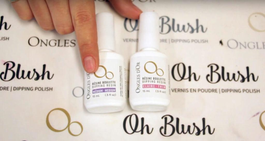 resine boulette ongles d'or Application