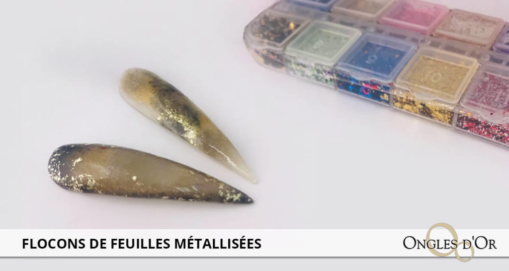 flocons de feuilles métallisées