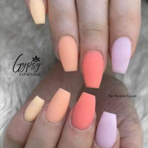 Oh Blush pastel, jaune, orange, corail et violet