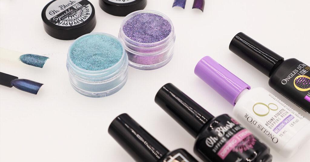 Oh Blush Sparkle différentes techniques