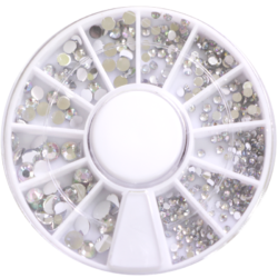 Stone wheel - round shape - clear holographic