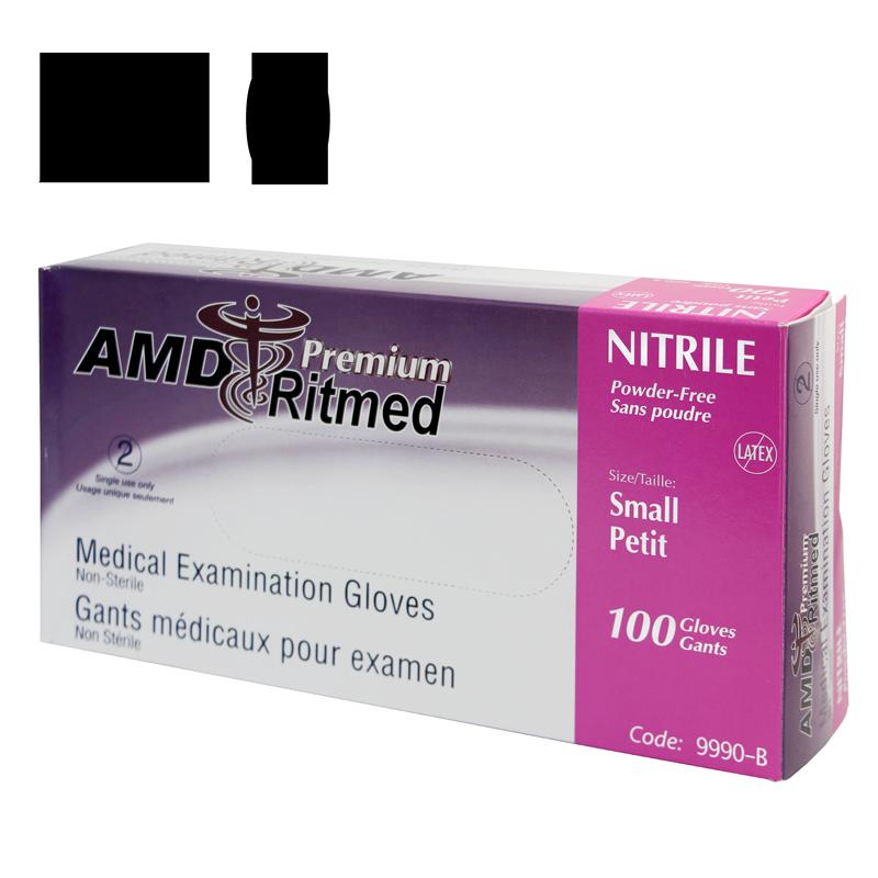 Gant Nitrile AMD Ritmed extensible Mauve (100) Small (Caisse de 10 boites)