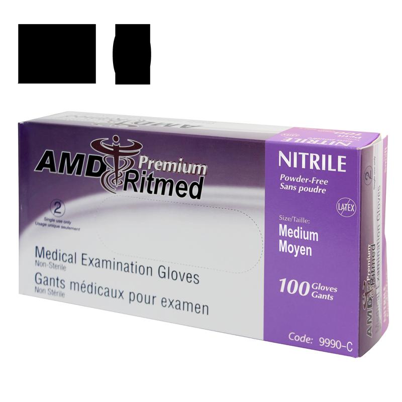 Gant Nitrile AMD Ritmed extensible Mauve (100) Medium (Caisse de 10 boites)