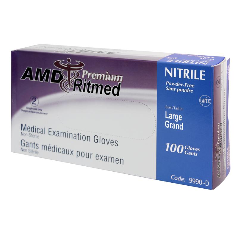 Gant Nitrile AMD Ritmed extensible Mauve (100) Large