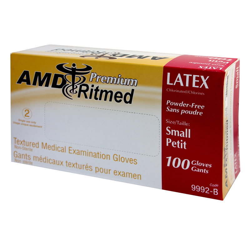 Gants Latex AMD Ritmed Sans Poudre Petit (100)