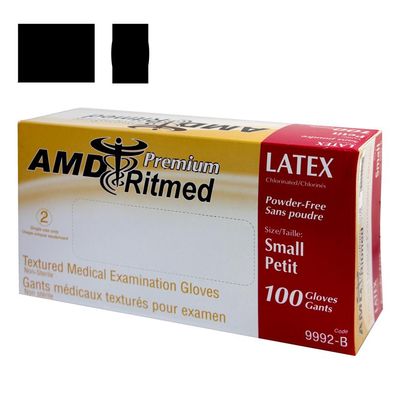 Gants Latex AMD Ritmed Sans Poudre Petit Caisse de 10 boites de 100 gants