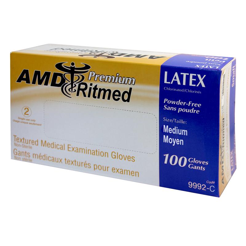 Gants Latex AMD Ritmed Sans Poudre Moyen (100)