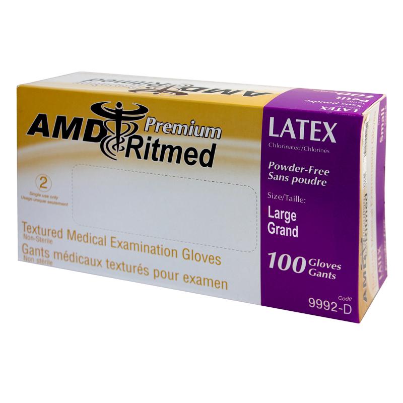 Gants Latex AMD Ritmed Sans Poudre Large (100)