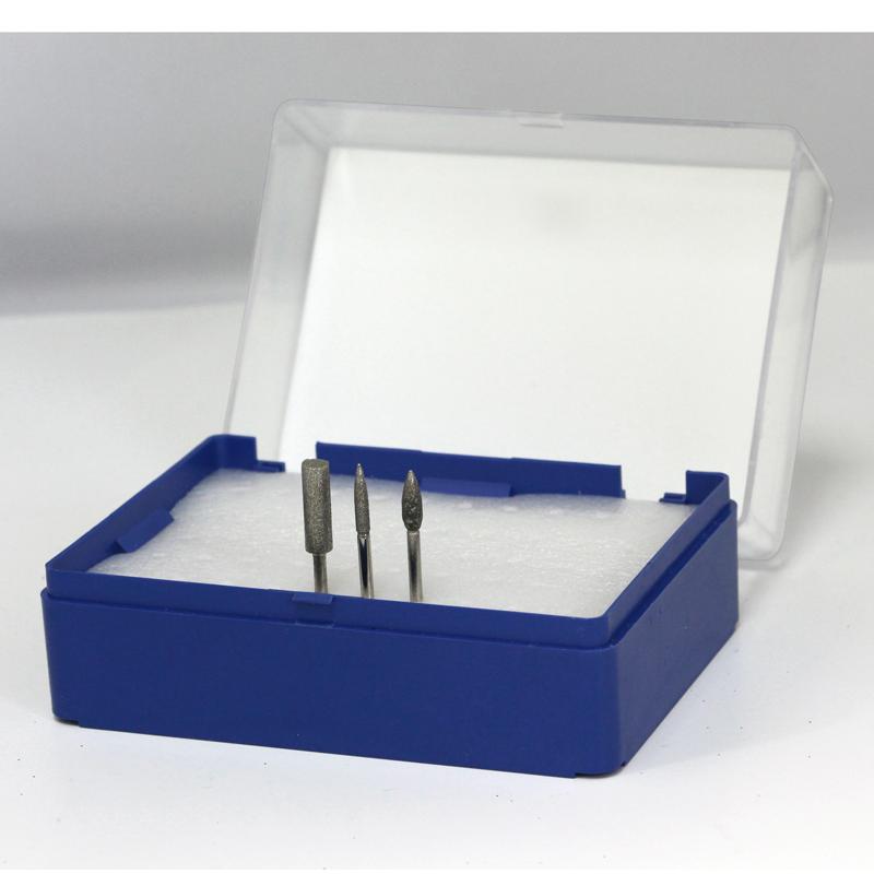 Empty Nail Drill Bit Storage Box -  Blue (can hold 50 bits)