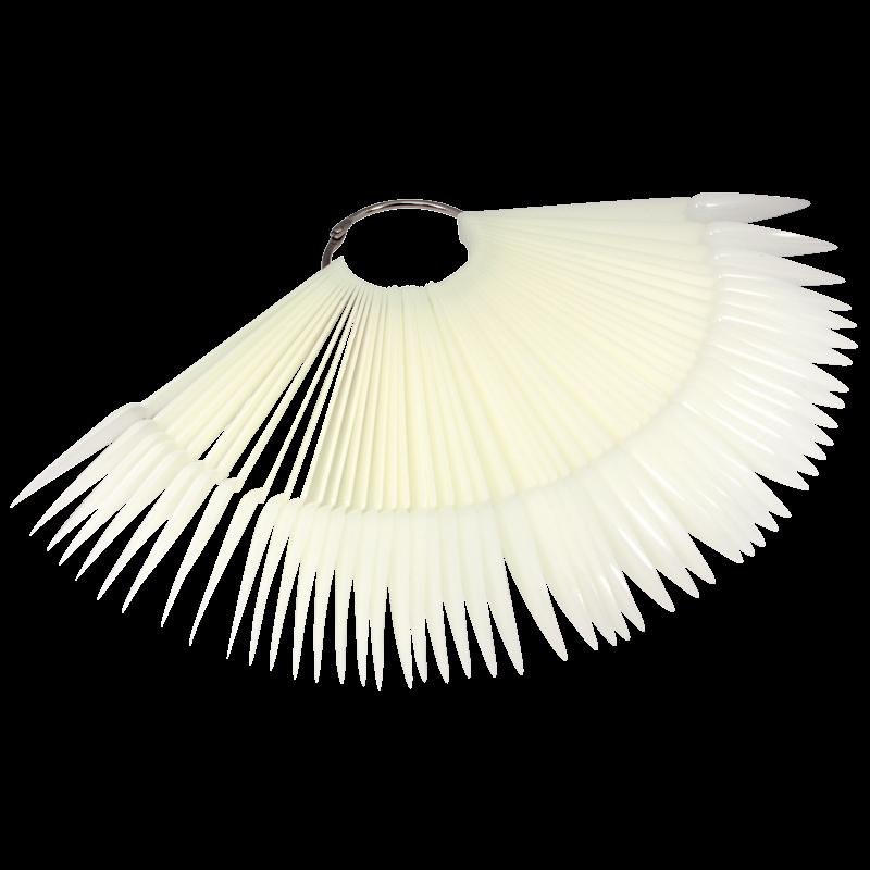 Charte de Couleur en Plastique Naturel Stiletto (50 unités)