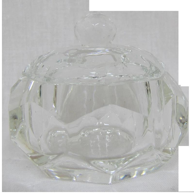 Contenant Cristal pour Poudre Rond Diamant (Diam 40 mm)