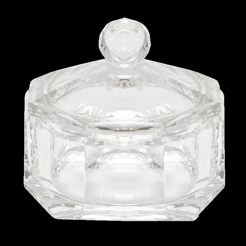 Contenant Cristal pour Poudre Rond Diamant (Diam intérieur 45 mm)