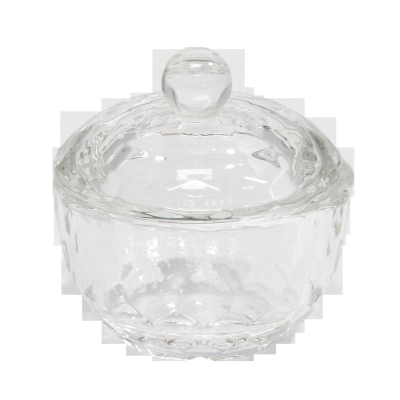 Contenant Cristal pour Poudre Rond Nid d'Abeille (Diam 40 mm)