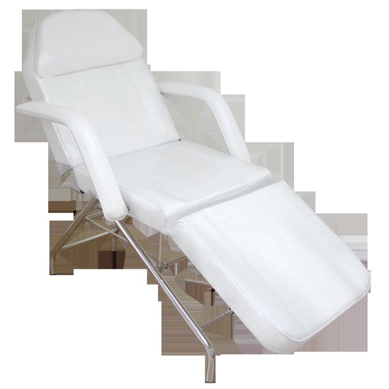Chaise d'esthétique Blanche Ajustable Manuellement (2256)