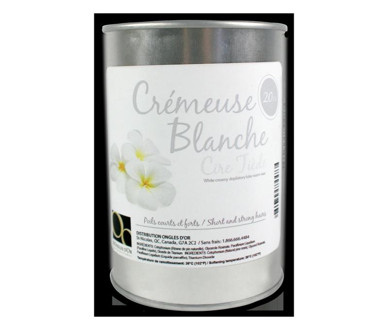 Cire Épilatoire Crémeuse Blanche Canne Métal  (20 oz) (1)