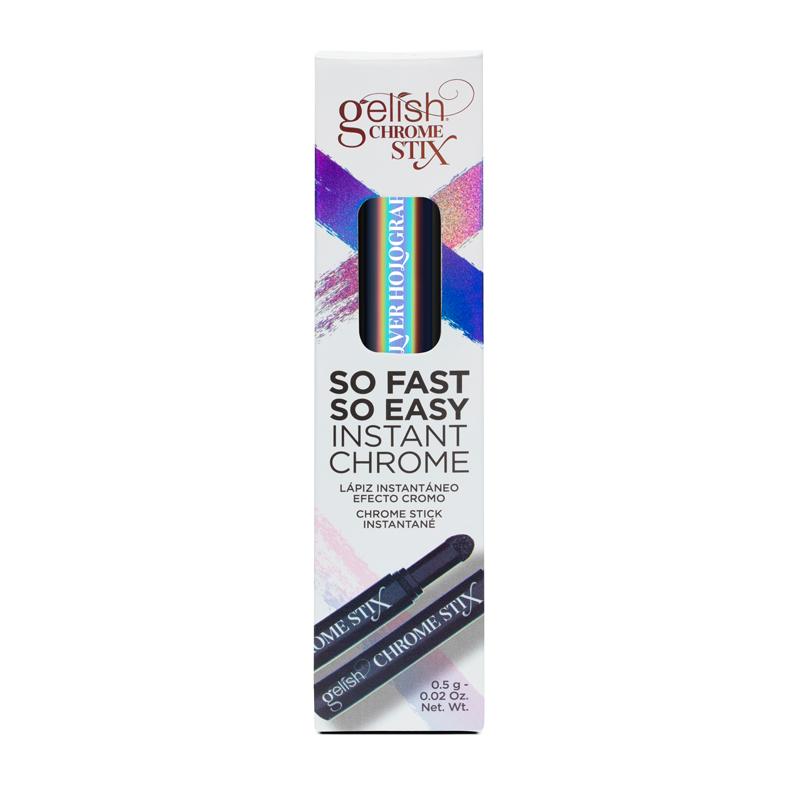 Gelish Chrome Stix Crayon à Effet Chrome Argent Holo. 5g