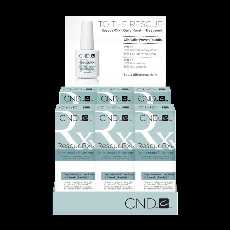 CND Rescue Rxx Soin Quotidien Kératine (6 x 1/2oz)