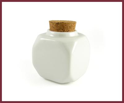 Contenant de Porcelaine Épais pour Liquide de Monomer Blanc