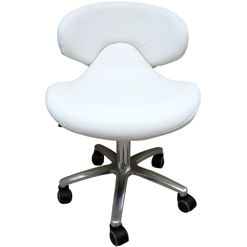 Chaise Pédicure Manucure Dossier Bas Blanc