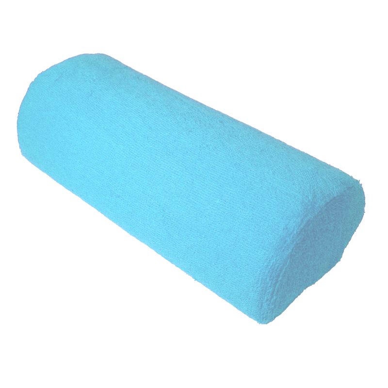 Coussin de travail coussiné bleu bébé avec fermuture éclair