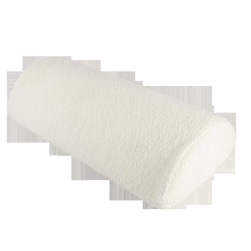 Coussin de travail coussiné blanc crème avec fermuture éclair