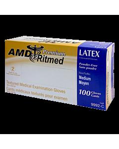Multipurpose AMD Ritmed Latex Glove - medium 100 gloves