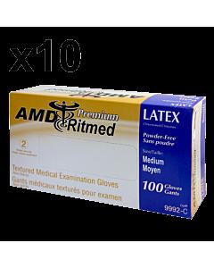 Gants Latex AMD Ritmed Sans Poudre Médium (100)