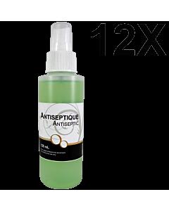 Antiseptique 125 mL avec Vaporisateur (12 Unités)