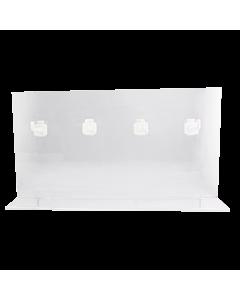 Acrylic rack - 4 hooks- 32x17x8,2 cm