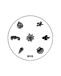 Plaquette pour Stamping B115 - Halloween