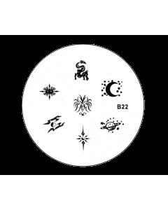 Plaquette pour Stamping B22 ésotérique