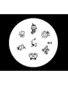 Plaquette pour Stamping B23 zodiaque