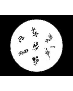 Plaquette pour Stamping B27 - Fleurs