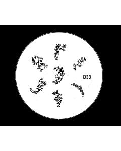 Plaquette pour Stamping B33 - Fleurs