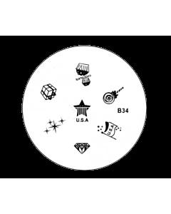 Plaquette pour Stamping B34 - USA - Cadeaux