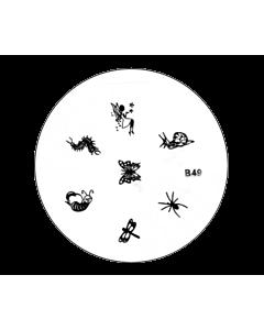 Plaquette pour Stamping B49 - Fée et insectes
