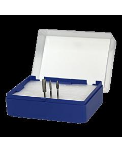 Empty Nail Drill Bit Storage Box - Blue