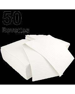 Bavettes plastifiées blanches Médicom