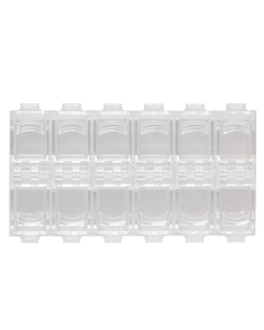 Empty Clear Acrylic Storage Box (12 compartments)