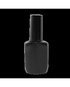 Empty Plastic Bottle with Cap - 15 mL - Black