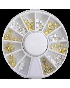 Decorative Metallic Studs - Gold  - Starfish and Shells