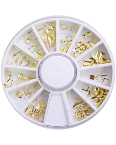 Decorative Metallic Studs - Gold  - Geometrical Shapes