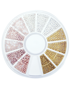 Metallic Pearl Wheel - Gold, Silver and Rose Gold