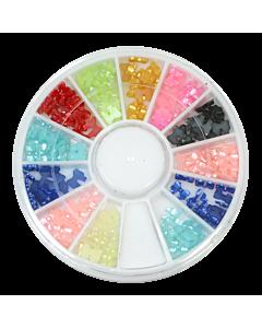 Stone Wheel - bow Shape - Multicolor