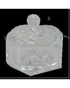 Contenant Cristal pour Poudre Rond Diamant