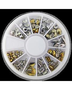 Wheel metal studs
