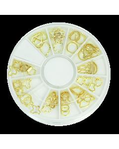 Wheel Decorative Metal Studs - Gold