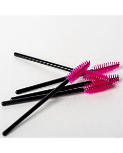 Cils Import Mini Brosses à Mascara Roses (50pcs)