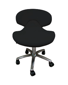 Pedicure and Manicure Chair with Low Backrest - Black